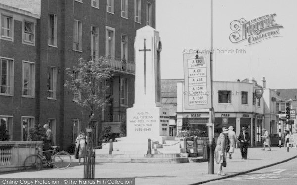 Photo of Chelmsford, Civic Suite And War Memorial c.1965