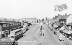 Chelmsford, The Bus Station c.1955