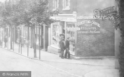 White's Store, Old Mill Road 1920, Chelston