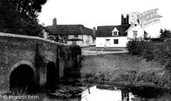 Chelsworth, The Bridge And Peacock Inn c.1960
