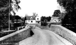 Chelsworth, The Bridge And Peacock Inn c.1965