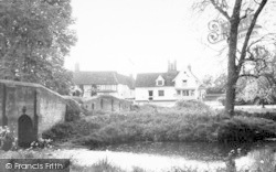 Chelsworth, The Peacock Inn And Bridge c.1965
