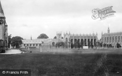 Cheltenham, College Grounds And Library 1906