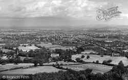 Cheltenham, From Leckhampton Hill c.1962
