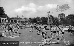 Sandford Park, Open Air Swimming Pool c.1955, Cheltenham