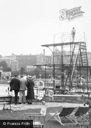 Cheltenham, The Lido Diving Board 1937