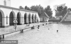 Chelwood Gate, The Camp Swimming Pool c.1950
