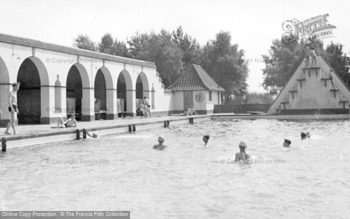 Photo of Chelwood Gate, The Camp Swimming Pool c.1950