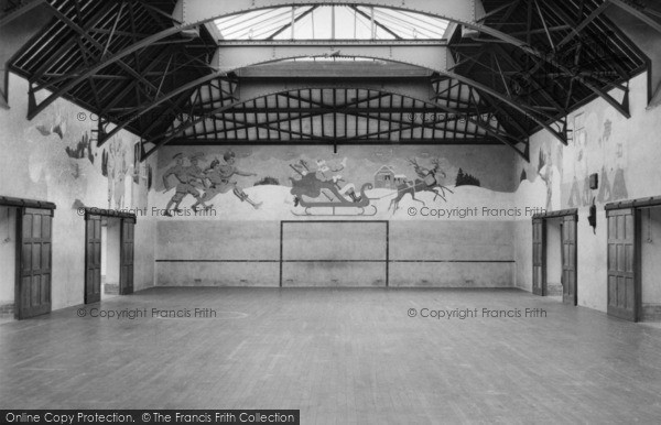 Photo of Chelwood Gate, The Play Barn Showing Murals, Isle Of Thorns Camp 1950