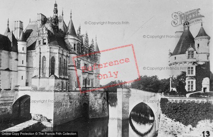 Photo of Chenonceaux, Chateau De Chenonceau Over The River Cher c.1930