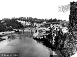 Castle And River Wye Bridge c.1930, Chepstow