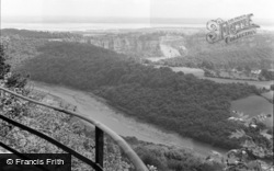 Chepstow, General View Near Wyndcliff 1959