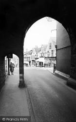 Chepstow, High Street From Town Gate 1957