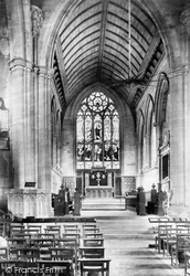 Chepstow, St Mary's Church Chancel 1906