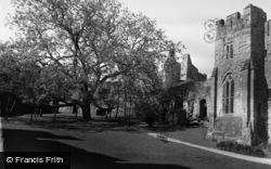 Chepstow, The Castle And Walnut Tree 1957