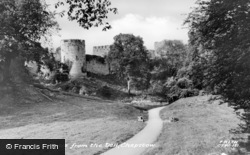 Chepstow, The Castle From The Dell 1957