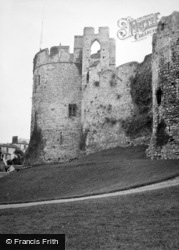 Chepstow, The Castle Walls 1949
