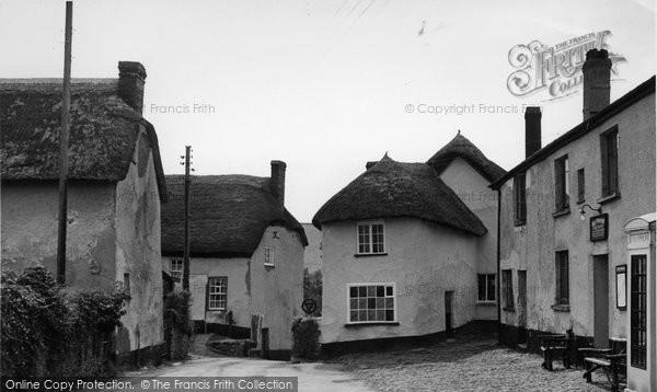 Photo of Cheriton Fitzpaine, The Village c.1955