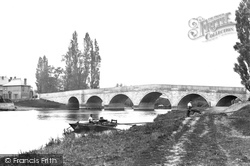 Chertsey, Bridge And Hotels 1890