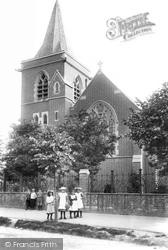 Chertsey, Children By All Saints' Church 1904