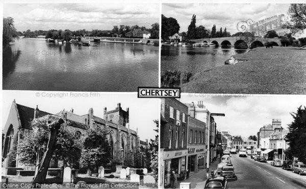 Photo of Chertsey, Composite c.1965