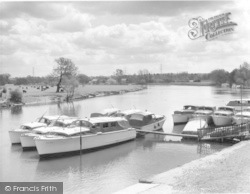 Chertsey, The River Thames 1962