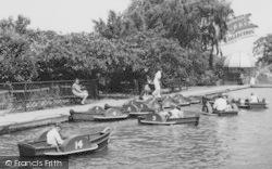Chessington, Zoo, Enjoying The Boating Lake c.1965