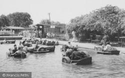 Chessington, Zoo, The Crowded Boating Lake c.1965