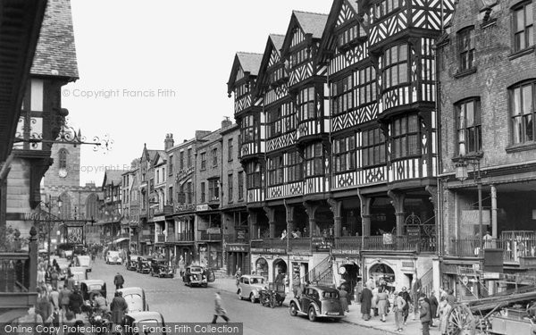 Photo of Chester, Bridge Street 1949