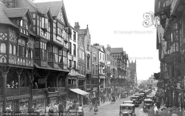 Photo of Chester, Bridge Street c.1950