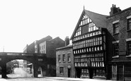 Chester, Bridge Street, the Bear and Billet Inn 1888