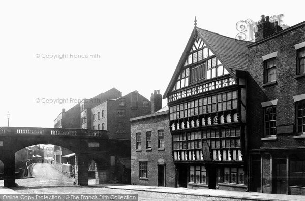 Photo of Chester, Bridge Street, the Bear and Billet Inn 1888