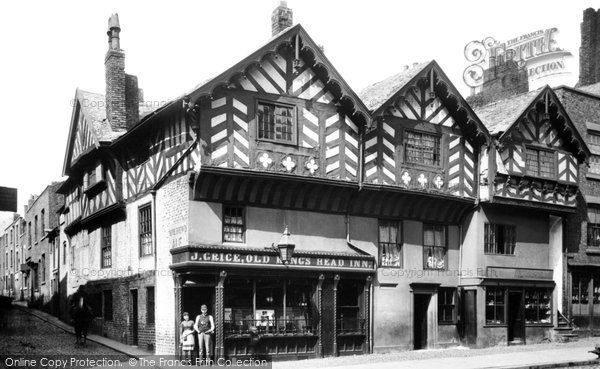 Photo of Chester, Bridge Street, The Old King's Head Inn 1888