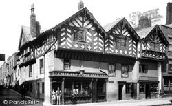 Chester, Bridge Street, The Old King's Head Inn 1888