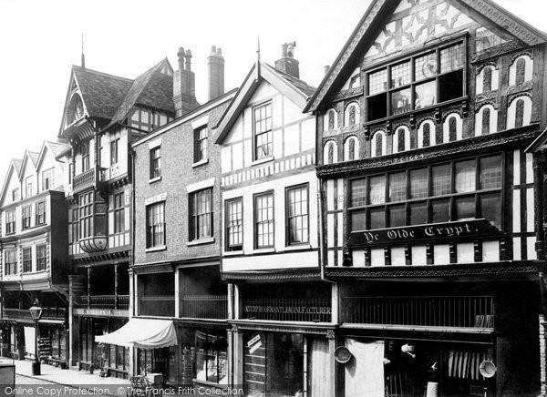 Photo of Chester, Bridge Street, Ye Olde Crypt 1888
