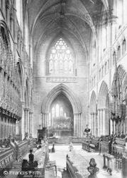 Chester, Cathedral, Choir East 1895
