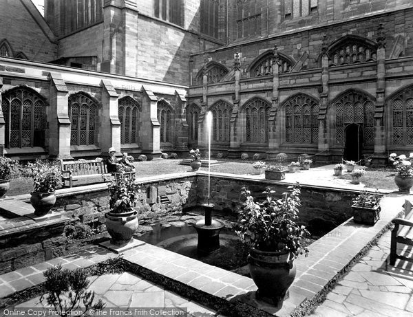 Photo of Chester, Cathedral, Cloister Gardens 1929