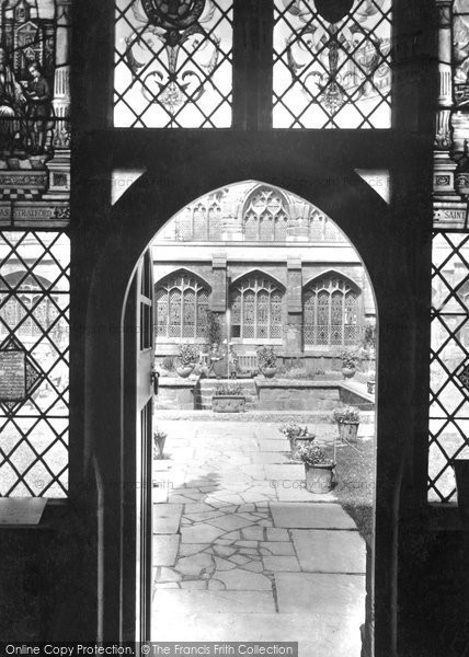 Photo of Chester, Cathedral, Doorway To Cloister Garden 1929