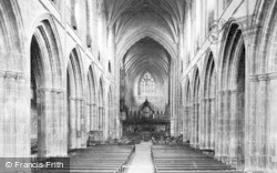 Chester, Cathedral, Nave East 1895