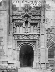 Chester, Cathedral Porch c.1866