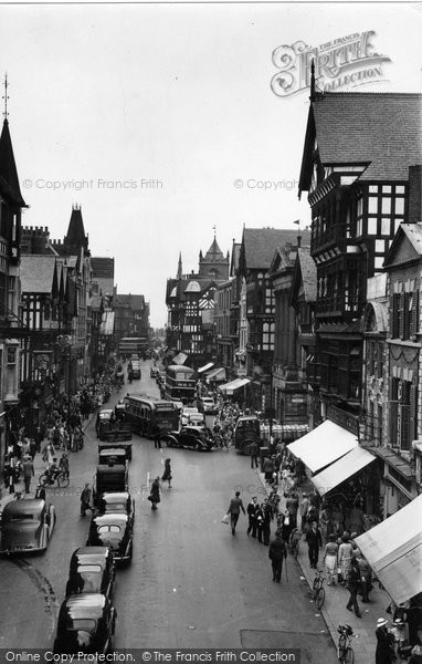 Photo of Chester, East From Eastgate 1949