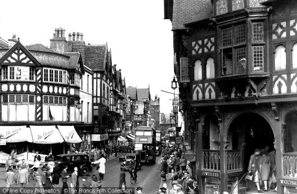 Photo of Chester, Eastgate Street c1950