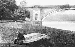 Chester, Grosvenor Bridge And Boatman 1888