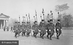 Javelin Men In Beefeaters' Costume, The Assize Procession c.1900, Chester