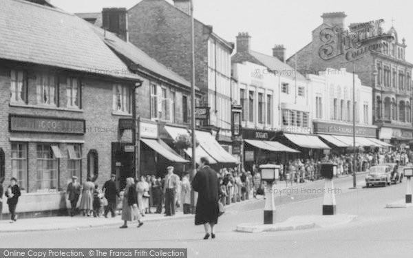 Photo of Chester Le Street, Shoppers, Front Street c.1955