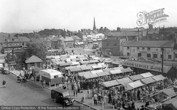 Chester Le Street, The Market Place c.1955