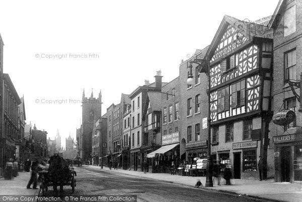 Photo of Chester, Lower Bridge Street 1903