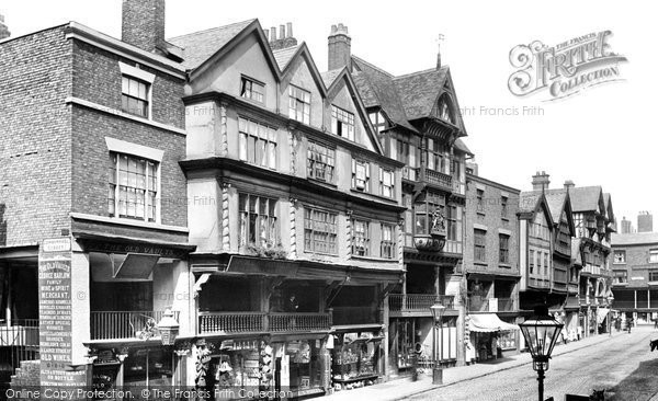 Photo of Chester, Old Mansions On Bridge Street 1895