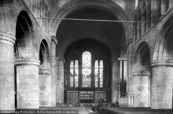 Photo of Chester, St John's Church interior 1888, ref. 20621