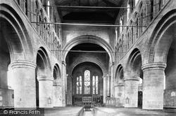 Chester, St John's Church, Nave East 1895